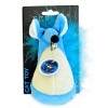 Scream FATTY MOUSE CAT TOY Loud Blue - Click for more info