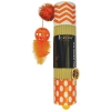 Scream CARDBOARD ROLLER CAT TOY 24cm Loud Orange - Click for more info