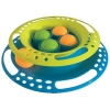 Scream SINGLE LAYER ORB TOWER CAT TOY 24x5.5cm Green & Blue - Click for more info