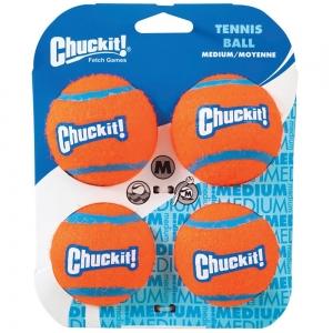 "Chuckit! TENNIS BALL - MEDIUM 2.5"" (6cm) Dia. 4pk - Click for more info"