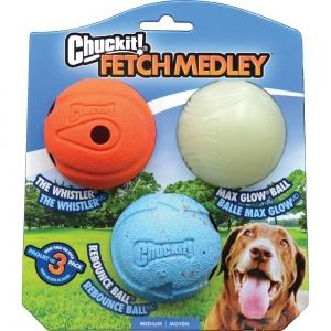 "Chuckit! FETCH MEDLEY BALLS 2.5"" (6cm) Assortment of 3 - Click for more info"
