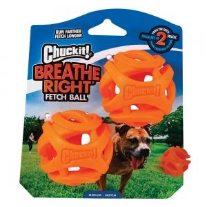 Chuckit! BREATHE RIGHT FETCH BALL MEDIUM 2pk - Click for more info