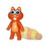 Chewbies Orange Squirrel - Vinyl Dog Toy - Click for more info