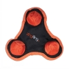 Zingfling Trio - Small Orange Dog Toy - Click for more info