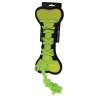 Scream CROSS ROPES TUG BONE 29cm Loud Green - Click for more info