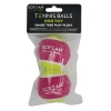 Scream TENNIS BALL Loud Green & Pink 2pk - Click for more info