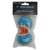 Scream TENNIS BALL Loud Blue & Orange 2pk - Click for more info