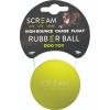 Scream RUBBER BALL DOG TOY Loud Green 6cm - Click for more info