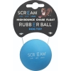 Scream RUBBER BALL DOG TOY Loud Blue 6cm - Click for more info