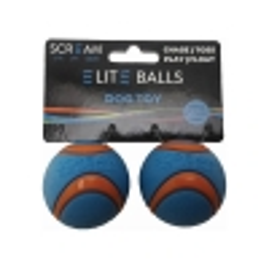 "Scream ELITE BALL SMALL 2"" (5cm) Loud Blue & Orange 2pk - Click for more info"