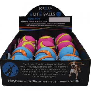 "Scream ELITE BALL MEDIUM 2.5"" (6.5cm) COUNTER DISPLAY 12pk - Click for more info"