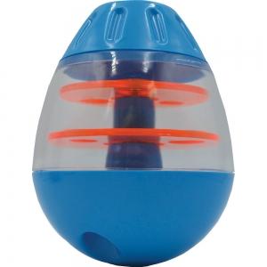 Scream TIP & ROLL TREAT DISPENSER Loud Blue & Orange 13cm - Click for more info