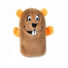 ZippyPaws - SQUEAKIE BUDDIES BEAVER 14 x 7.5cm - Click for more info