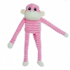 ZippyPaws - SPENCER CRINKLE MONKEY PINK SMALL 28 x 10cm - Click for more info