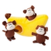 ZippyPaws - ZIPPY BURROW MONKEY 'N BANANA 25 x 12 x 10cm - Click for more info