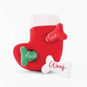 ZippyPaws - HOLIDAY BURROW STOCKING 25 x 22cm - Click for more info