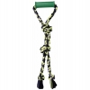 "Flossy Chews TWIN TUG w/RUBBER HANDLE Medium 20"" (50cm) - Click for more info"