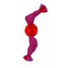 Flossy Chews CANDY WRAP W/SQUEAKY TPR BALL Large 30cm - Click for more info