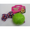 "RUBBER FLYING BALL DOG TOY w/LONG ROPE 3.0""/8cm - Click for more info"