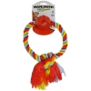 "FLOSSY CHEWS TUG RING w/BALL Medium 8"" (20cm) - Click for more info"