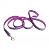 "Pet Attire - SPARKLES LEASH 5/8"" x 1.8m Purple & Silver - Click for more info"