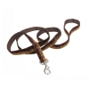 "Pet Attire - SPARKLES LEASH 1"" x 1.8m Brown & Gold - Click for more info"