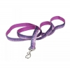 "Pet Attire - SPARKLES LEASH 1"" x 1.8m Purple & Silver - Click for more info"