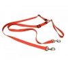 "TANGLE FREE NYLON 2 DOG LEASH 5/8"" x 1.2m Red - Click for more info"