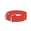 Macho Dog - DOUBLE PLY NYLON COLLAR 4.5cm x 60cm Red - Click for more info