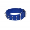 Macho Dog - DOUBLE PLY NYLON SPIKE COLLAR 4.5cm x 55cm Blue - Click for more info