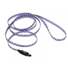 "Li'l Pals - NYLON LEASH w/ E-Z SNAP 5/6"" x 1.8m Blue w/Paws - Click for more info"