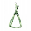 "ADJ. NYLON PUPPY HARNESS 5/16"" Green Dots  20cm-35cm - Click for more info"