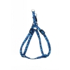 "ADJ. NYLON PUPPY HARNESS 5/16"" Blue Leopard 20cm-35cm - Click for more info"