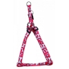 "ADJ. NYLON PUPPY HARNESS 5/16"" Red w/Bones 20cm-35cm - Click for more info"
