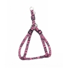"ADJ. NYLON PUPPY HARNESS 5/16"" Pink Zebra 20cm-35cm - Click for more info"