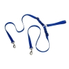 "TANGLE FREE NYLON 2 DOG LEASH 1"" x 1.2m Blue - Click for more info"
