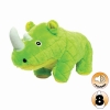 Tuffy MIGHTY TOY SAFARI SERIES RHONI THE RHINO Green - Click for more info