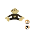 Tuffy MIGHTY TOY SAFARI SERIES JR MAX THE MONKEY Brown - Click for more info