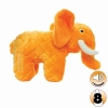Tuffy MIGHTY TOY SAFARI SERIES ELLIE THE ELEPHANT Orange - Click for more info