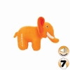 Tuffy MIGHTY TOY SAFARI SERIES JR ELLIE THE ELEPHANT Orange - Click for more info